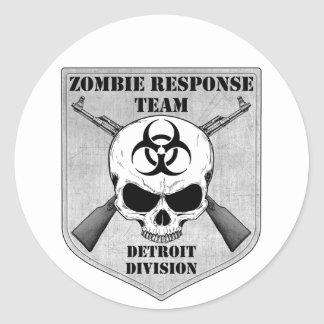 Zombie Response Team: Detroit Division Classic Round Sticker
