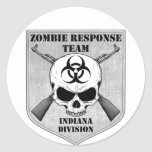 Zombie Response Team: Indiana Division Round Stickers