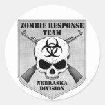 Zombie Response Team: Nebraska Division Round Sticker