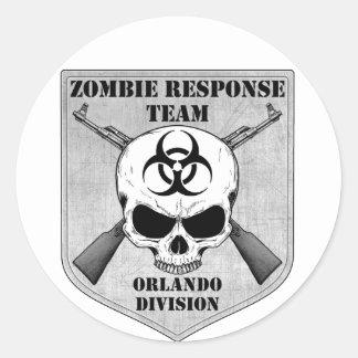 Zombie Response Team: Orlando Division Classic Round Sticker