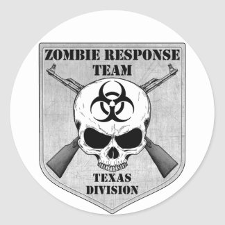 Zombie Response Team: Texas Division Classic Round Sticker