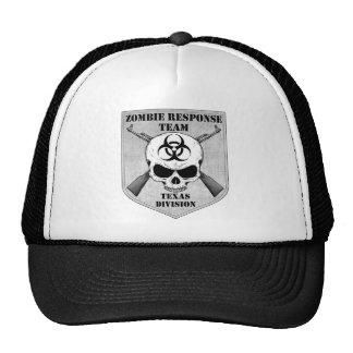 Zombie Response Team Texas Division Hats
