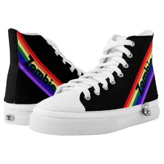 Zombie Retro Rainbow Black Hightops