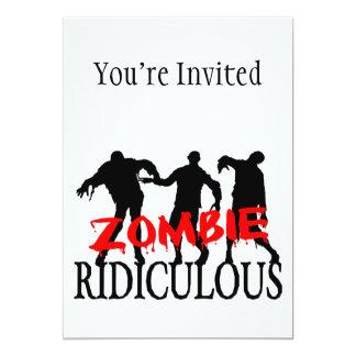 Zombie Ridiculous 13 Cm X 18 Cm Invitation Card