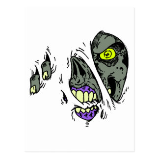 Zombie Rip Through Design Postcard