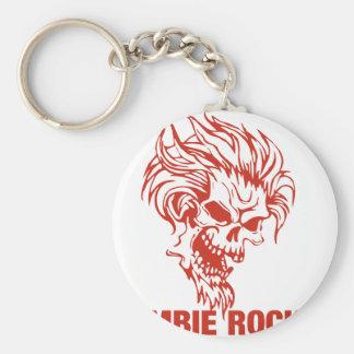 Zombie Rocker - Rock-N-Roll Basic Round Button Key Ring