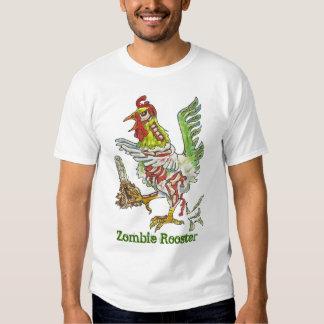 Zombie Rooster Chicken Halloween Art T Shirt