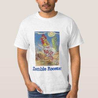 Zombie Rooster Chicken Halloween Art T-Shirt