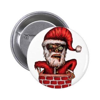 Zombie Santa 6 Cm Round Badge