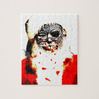 Zombie Santa 8x10 Photo Puzzle with Gift Box