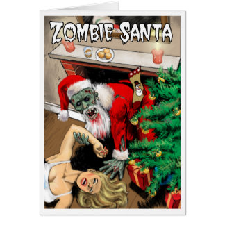 Zombie Santa Christmas Card - Blank Interior