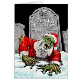 Zombie Santa Christmas Card Blank Interior