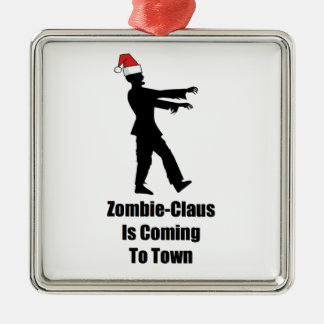 Zombie Santa Christmas Ornament