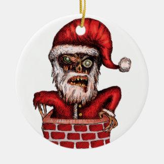 Zombie Santa Christmas Ornament