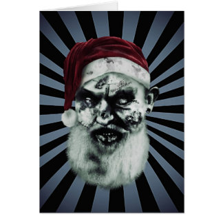 zombie santa greeting card