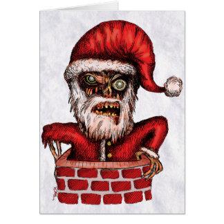 Zombie Santa - Greeting Card