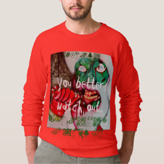 Zombie Santa horror Christmas jumper Sweatshirt