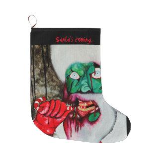 Zombie Santa living dead Christmas stocking