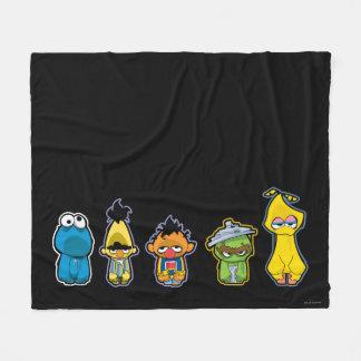 Zombie Sesame Street Characters Fleece Blanket