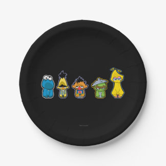 Zombie Sesame Street Characters Paper Plate
