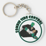 Zombie Side Control Basic Round Button Key Ring