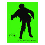 Zombie Silhouette 11 Cm X 14 Cm Invitation Card