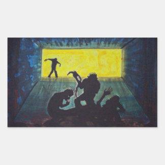 Zombie Silhouette dark art horror stickers