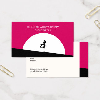 Zombie Silhouette with Full Moon Business Card