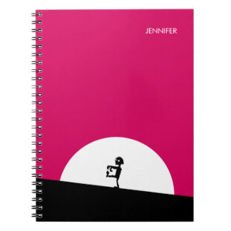 Zombie Silhouette with Full Moon Personalized Notebook