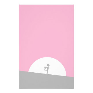 Zombie Silhouette with Full Moon Stationery