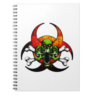 Zombie Skull and Crossbones Notebook