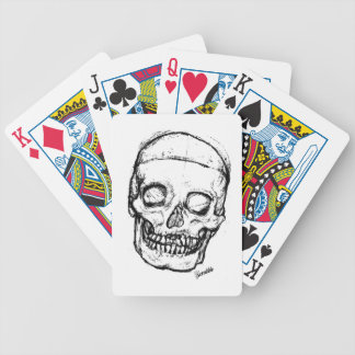 Zombie Skull Drawing 1 Deck Of Cards