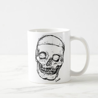 Zombie Skull Drawing 1 Mug