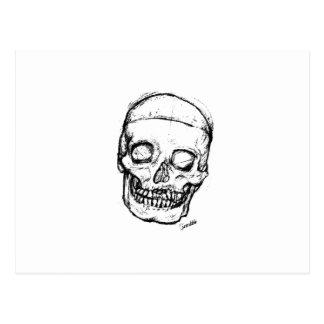 Zombie Skull Drawing 1 Postcard