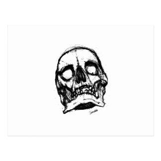 Zombie Skull Drawing 2 Postcard