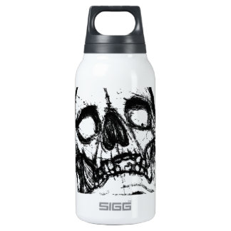 Zombie Skull Drawing 2 10 Oz Insulated SIGG Thermos Water Bottle