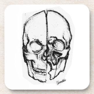 Zombie Skull Drawing 7 Beverage Coaster