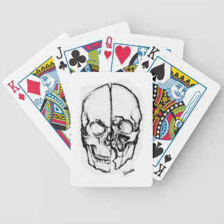 Zombie Skull Drawing 7 Playing Cards