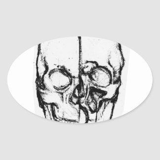 Zombie Skull Drawing 7 Stickers