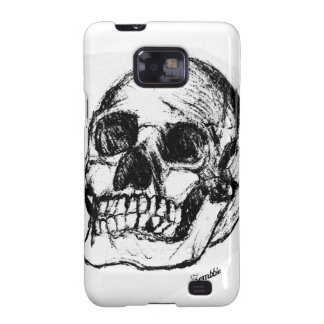 Zombie Skull Drawing 9 Samsung Galaxy S2 Cover