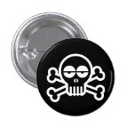 Zombie Skull Pinback Buttons