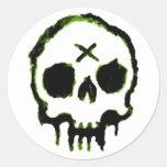 Zombie Skull Stickers