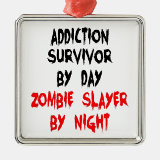 Zombie Slayer Addiction Survivor Christmas Ornament