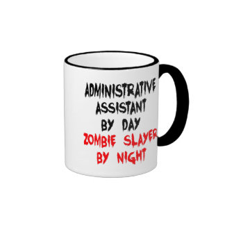 Zombie Slayer Administrative Assistant Ringer Coffee Mug