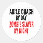 Zombie Slayer Agile Coach Round Sticker