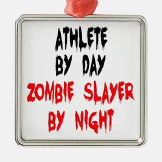 Zombie Slayer Athlete Christmas Ornament