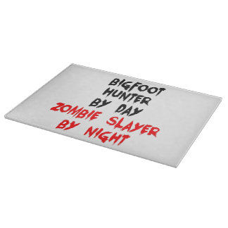 Zombie Slayer Bigfoot Hunter Cutting Board