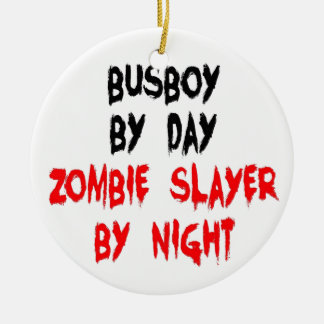 Zombie Slayer Busboy Christmas Ornament