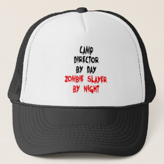 Zombie Slayer Camp Director Trucker Hat
