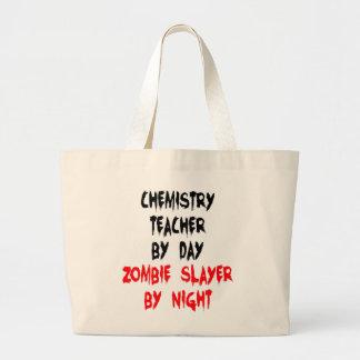 Zombie Slayer Chemistry Teacher Large Tote Bag